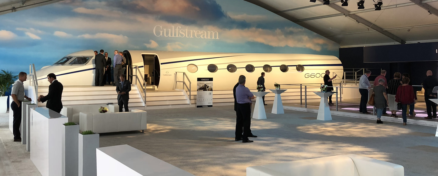 The Gulfstream G600 display mock-up built by Prefix Corporation