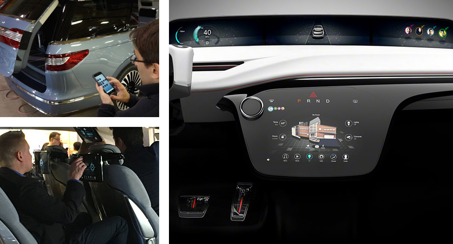A variety of HMI (Human Machine Interface) and Infotainment examples